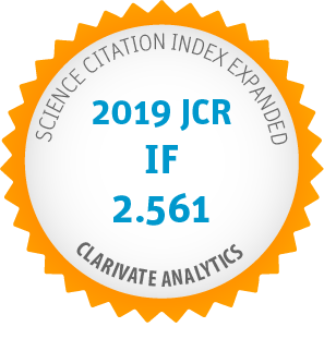 Science Citation Index Expanded - 2019 JCR IP 2.561 - Clarivate Analytics